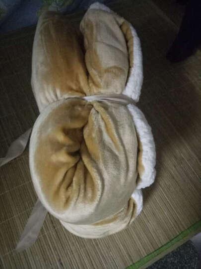帝菲雅 毛毯双层加厚羊羔绒毯子 休闲办公室午休盖毯被 藕粉色-升级款 90*130cm蓬松毯【婴儿】 晒单图