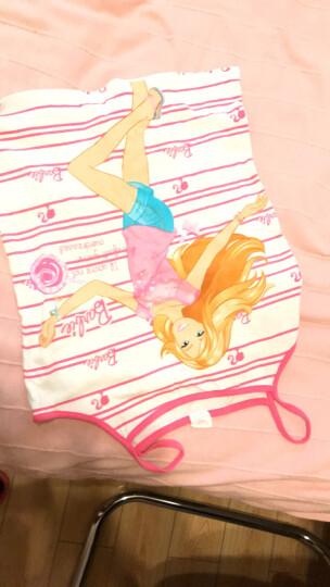 芭比童装儿童背心纯棉 女童背心小女孩学生吊带打底衫上衣春夏 86291白色 110cm 晒单图
