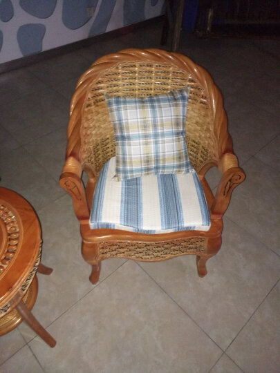 祥藤富竹 藤椅子茶几三件套阳台桌椅客厅休闲椅咖啡桌椅组合酒店会所家具 2+1 晒单图