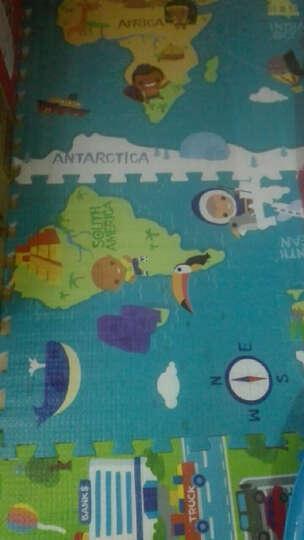蔓葆(mambobaby) 儿童宝宝拼图游戏爬行垫毯爬爬垫乐扣地垫泡沫拼接环保加厚 幸福小镇6片装边条款 晒单图