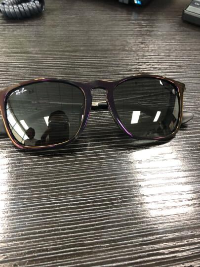 RayBan 雷朋太阳眼镜方形舒适简约潮流渐变色0RB4187F 631611红色框灰色渐变镜片 尺寸54 晒单图