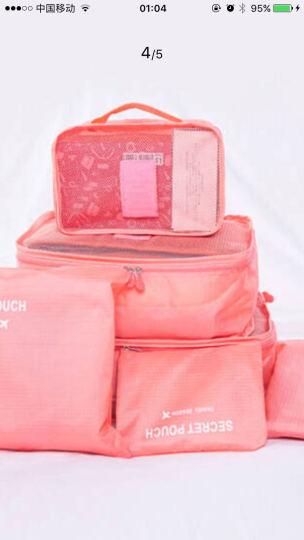 喜家家 便携旅行包女士防水收纳袋旅游出差打包化妆包洗漱用品 桔色 晒单图