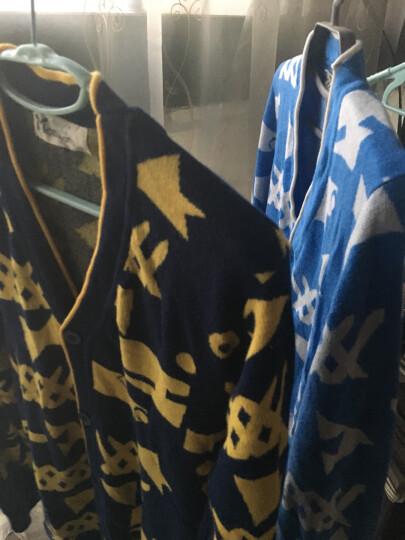 蘑菇兔(MOREGOTO) 蘑菇兔童装胖男童毛衣秋款中大童宽松韩版圆领针织衫15岁男孩子 蓝色 160cm 晒单图