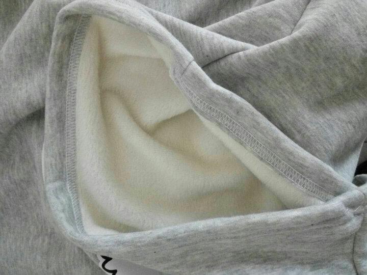 梦想豆男童加绒卫衣2017新款高领套头绒衫卡通保暖长袖中大童装打底衫 大白款藏青色 160码适合150左右身高的孩子穿 晒单图