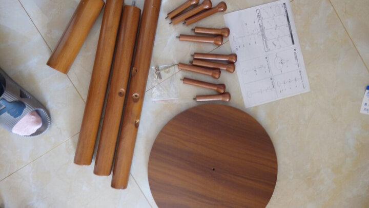 心家宜 实木落地衣帽架 环保材质多挂钩衣服架 欧式进口橡胶木挂衣架服装架 巧克力 晒单图