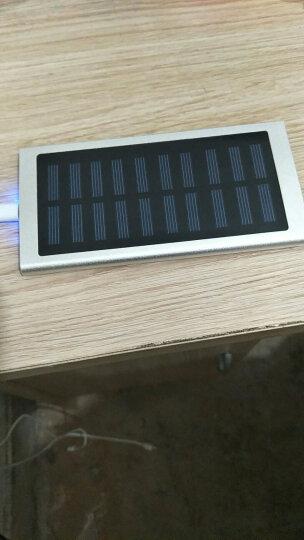 闪步50000M大容量移动电源超薄小巧太阳能充电宝OPPO苹果快充通用双向快充VIVO20000毫安 带太阳能(银色)+充电器 晒单图