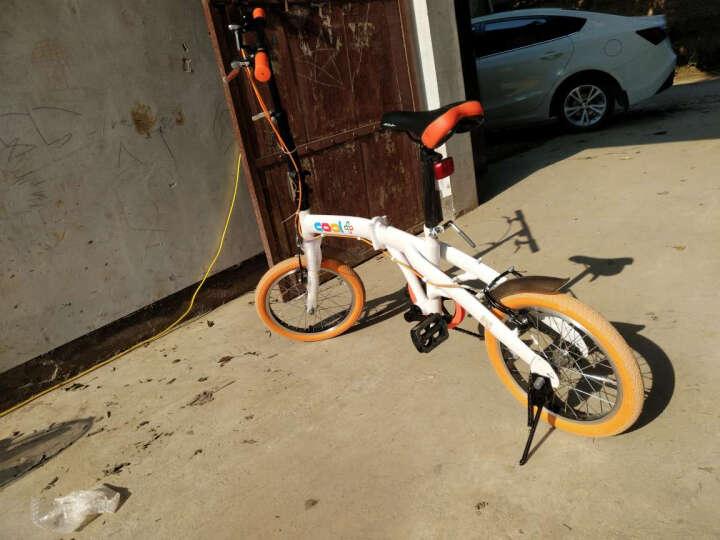 爱玛折叠自行车 时尚休闲快速折叠车 轻便小巧户外男女通勤车 学生单车代步车 白橙色 轻便小巧16寸 晒单图