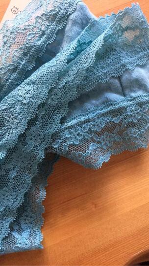 VICTORIA'S SECRET 维多利亚的秘密棉质蕾丝三角裤超舒适内裤 蓝色 S 晒单图