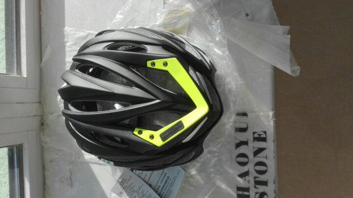 GUB 骑行头盔男山地自行车头盔女内置3D龙骨轻量一体成型安全帽子公路单车装备 SV8 PRO 哑光黑-绿色尾翼 晒单图