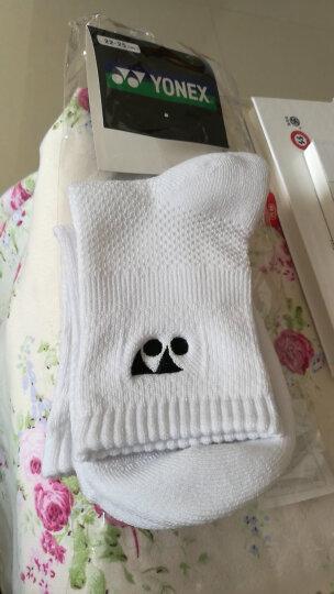 尤尼克斯YONEX羽毛球运动袜情侣女士袜子透气吸汗245037BCR 白色 晒单图