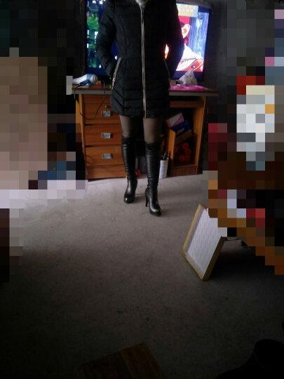 【精选好货 京东】莱卡金顿长靴女靴子高跟高筒靴弹力靴细跟长筒靴女冬季新款女士 网纱款黑色 38正码绒里 晒单图