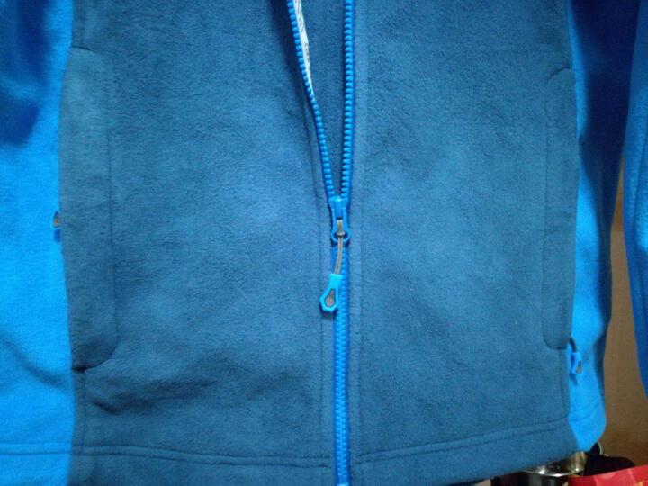 骆驼 CAMEL 户外抓绒衣 男拉链开衫外套立领秋冬保暖抓绒衣 A5W280118 宝蓝/彩蓝 L 晒单图