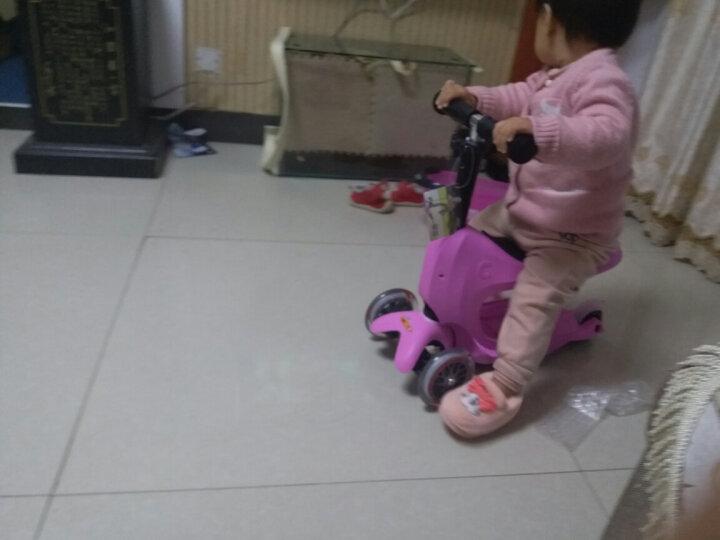 【德国红点设计获奖】瑞士micro迈古米高儿童滑板车迷你储物箱滑步车推杆可拆卸三轮儿童滑行车 粉红色 晒单图