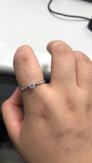 喜钻 克拉裸钻定制GIA证书GIC证书及其他证书18K金铂金钻石戒指女款克拉钻戒 50分F色VS1 3EX N (送戒托) 晒单图