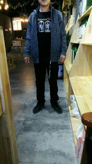 浚威狼(JUNWEILANG)棉衣男外套男装冬季棉服加厚加绒中长款保暖针织衫男开衫夹克外衣服男 1761蓝色 XL(建议140-160斤) 晒单图
