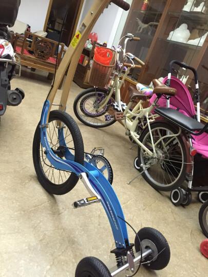 豹骑(bowqi) 折叠便携跑步自行车女运动健身单车男娱乐锻炼代步健跑车无座动感单车 土豪金 晒单图