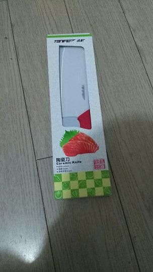 途耐(TONIFE) TONIFE途耐 雅致6寸纳米氧化锆陶瓷菜刀 切片刀 中式菜刀 切肉刀 红色 晒单图