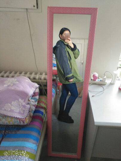 华恺之星 落地穿衣镜 可壁挂全身试衣镜子 粉款 晒单图