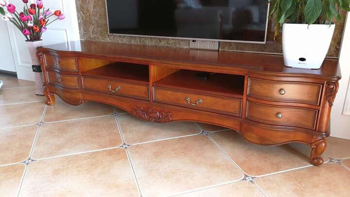 艾理思 电视柜 欧式电视柜 美式实木电视柜2米 2.4米 客厅电视机柜 现货 2.4米(注意电梯尺寸) 晒单图