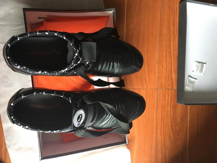 红蜻蜓男鞋子休闲皮鞋男士韩版潮流青年镂空皮鞋 黑色内增高6CM 39 偏大一码 晒单图