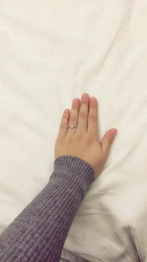 鸣钻国际 四爪豪华钻戒女 30分效果钻戒 白18K金钻石求婚戒指/婚戒/情侣对戒女款 13号指圈 晒单图