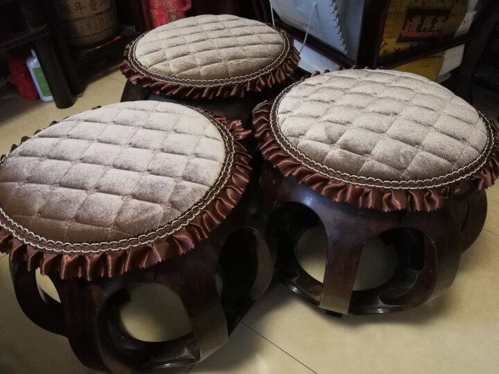 记忆棉坐垫椅垫圆凳子垫圆形椅子坐垫办公室加厚榻榻米坐垫夏季屁股垫 方格子 直径34CM 厚3.5CM 晒单图