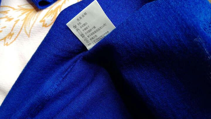 Brloote/巴鲁特针织衫男士圆领羊毛衫长袖毛衣纯色薄款套头打底衫新款春秋男装 白色 180/100A 晒单图