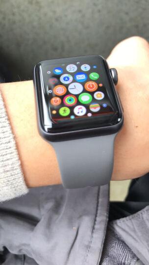 Apple Watch Series 3智能手表(GPS款 38毫米 深空灰色铝金属表壳 灰色运动型表带 MR352CH/A) 晒单图