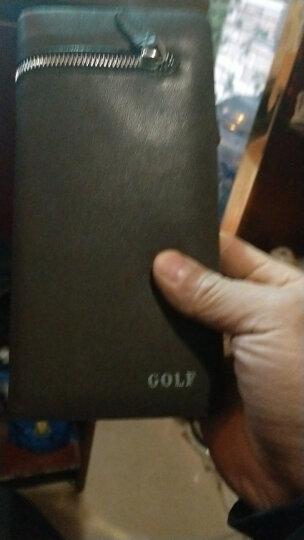 高尔夫GOLF钱包男长款柔软头层牛皮男士钱夹大容量多卡位多功能钱包 头层牛皮啡色 晒单图