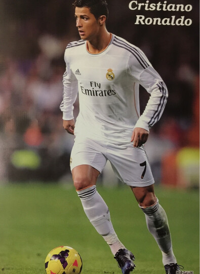皇马c罗梅西内马尔贝克汉姆本泽马卡卡足球明星海报墙贴一套8张 贝克汉姆A海报 晒单图