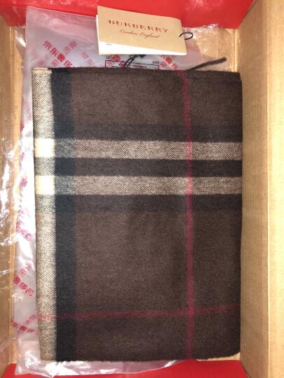 BURBERRY 巴宝莉 女士缤纷红色格纹羊绒心形图案流苏装饰长形围巾 39937501 晒单图