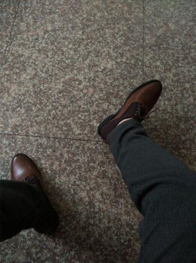 金港男士增高鞋8cm内增高男鞋商务休闲皮鞋英伦正装婚鞋真皮小号小码男鞋子 深棕色 39 晒单图