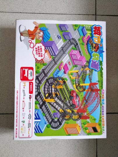 育儿宝(Yu Er Bao)小火车多层轨道车玩具套装小孩电动玩具3-6岁儿童生日 1305创意欢乐谷轨道车 晒单图