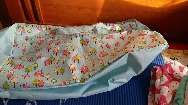纳纳(nana) 棉被袋幼儿园装被子袋子 手提袋收纳袋搬家袋编织袋 牛津布防水 收纳用品 缤纷小熊【蓝】 大号60*28*45cm=75L 晒单图