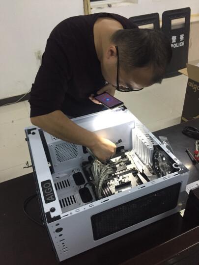 爱国者(aigo)月光宝盒X白京东专供版 台式水冷电脑机箱(三面钢化玻璃/配3把RGB发光风扇) 晒单图