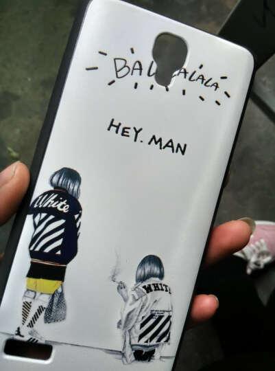 度卡斯 红米note手机壳红米note1s手机套note保护套5.5增强版硅胶软防摔个性卡通创意潮 黑色小宇宙 晒单图