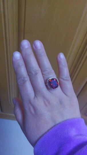 6克拉宝石戒指女款潮流韩版人工红水晶食指装饰指环夸张镀金饰品时尚生日生日礼物送女友 指圈15号内直径18MM 晒单图