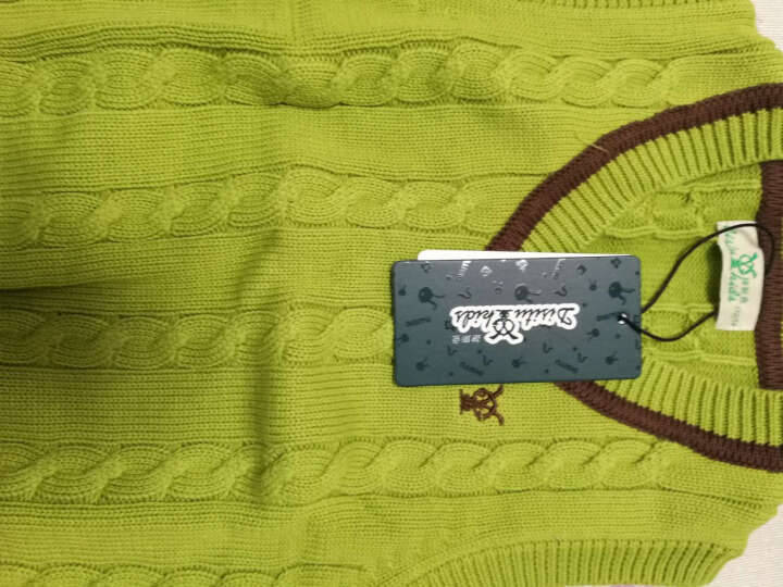 迪斯兔 男童毛衣背心马甲针织衫保暖加绒大中童装秋冬马夹儿童毛衣B1523 黄色 120cm 晒单图