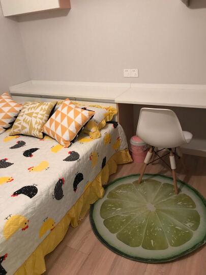 卡通正圆形地毯厚电脑椅防滑垫转椅吊篮吊椅摇椅藤椅鸟巢帐篷地垫包邮 木头3D 直径60厘米 晒单图