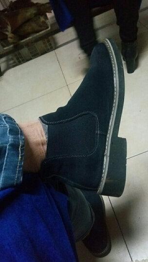 拉蒂公牛 棉鞋男鞋休闲鞋中帮冬季加绒保暖时尚反绒皮商务靴子 蓝色(秋款单鞋) 38 晒单图