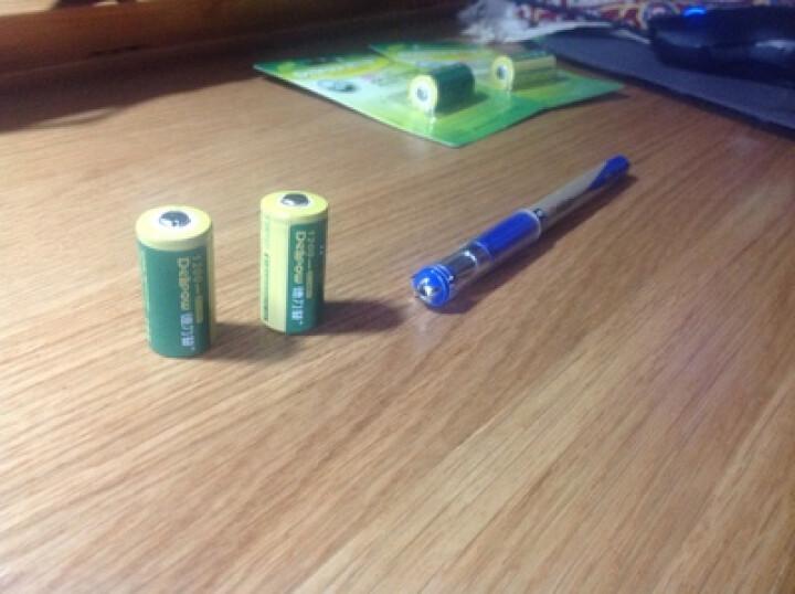 德力普 cr123a电池 CR123A充电锂电池 CR123A充电电池 3V1200毫安 1节Cr123a充电电池 晒单图
