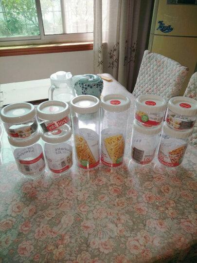 乐扣乐扣(LOCK&LOCK)调料罐五谷杂粮瓶  新概念储物罐 冰箱收纳保鲜 零食密封罐多件 塑料 五件套 晒单图