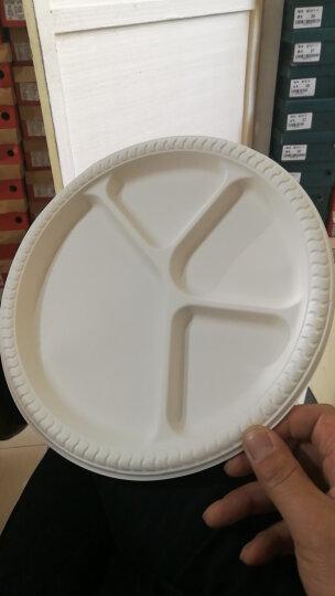 初绿一次性圆盘11寸四格盘国外西餐盘玉米淀粉快餐盘碟披萨蛋糕甜品碟加厚硬质包邮 11寸四格盘500个 晒单图