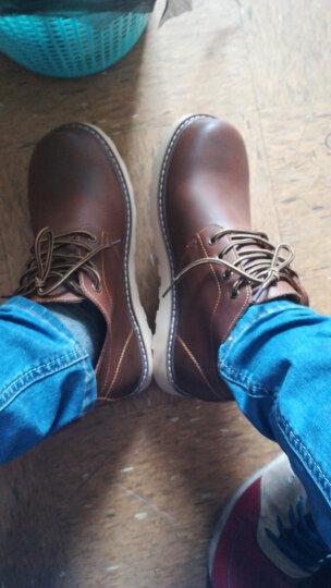 马登秋冬季新款马丁靴男士真皮靴短靴军靴工装鞋牛仔靴子男靴休闲皮鞋男 蜜蜡色 42 晒单图