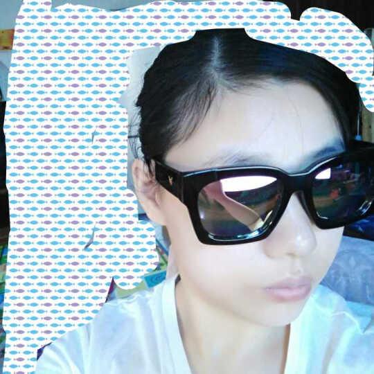 艾塔雷朋太阳镜明星款复古偏光韩版女墨镜男开车司机眼镜 黑框樱花粉 晒单图