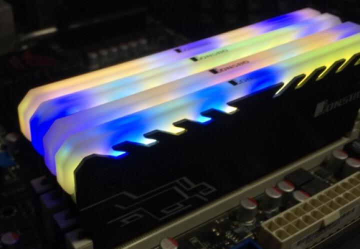 乔思伯(JONSBO)NC-1 内存发光马甲/内存条散热片(七彩流光效果/全铝外壳/兼容高低内存) 白色 晒单图