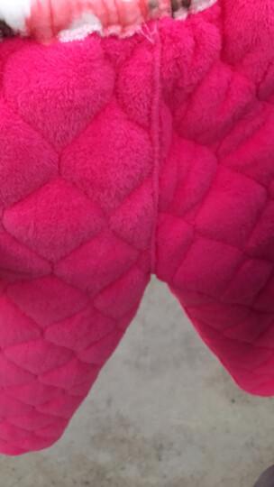 特丝格斯 睡衣女冬加厚套装珊瑚绒保暖夹棉衣加大码加绒法兰绒家居服 粉底兰桃 M-(三层加厚夹棉) 晒单图