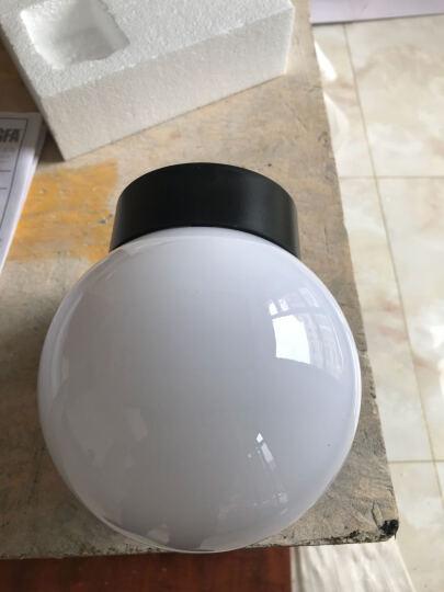 防水LED壁灯室外户外球形阳台洗手间外墙过道楼梯灯卧室床头灯具 B款奶白灯罩+5W LED 暖光 晒单图