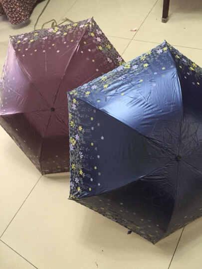 上海故事遮阳伞黑胶防晒女士折叠太阳伞防紫外线碳纤伞超轻铅笔伞 仅158克 C咖啡色 晒单图