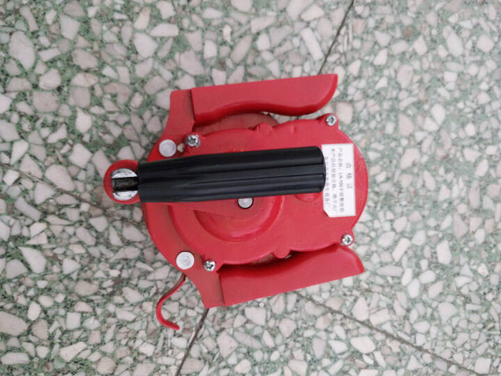 谋福 消防演习手持手摇警报器LK100P(塑料ABS手动防空警报)手持式报警器防空报警器 铝合金警报器军绿 晒单图